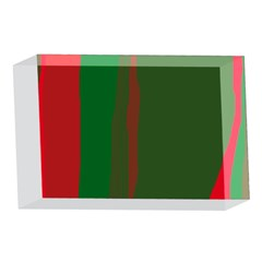 Green and red lines 4 x 6  Acrylic Photo Blocks