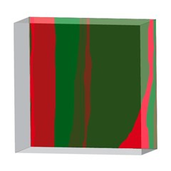 Green and red lines 5  x 5  Acrylic Photo Blocks