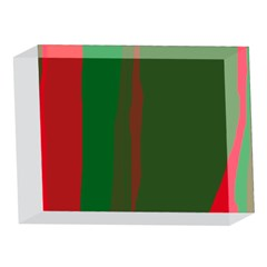 Green and red lines 5 x 7  Acrylic Photo Blocks