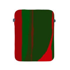 Green and red lines Apple iPad 2/3/4 Protective Soft Cases