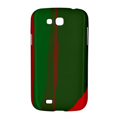 Green and red lines Samsung Galaxy Grand GT-I9128 Hardshell Case