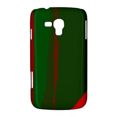 Green and red lines Samsung Galaxy Duos I8262 Hardshell Case