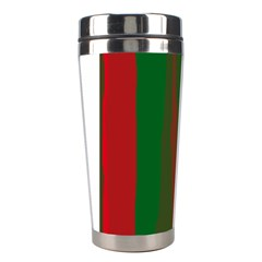 Green and red lines Stainless Steel Travel Tumblers