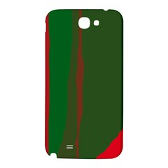 Green and red lines Samsung Note 2 N7100 Hardshell Back Case