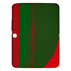 Green and red lines Samsung Galaxy Tab 3 (10.1 ) P5200 Hardshell Case