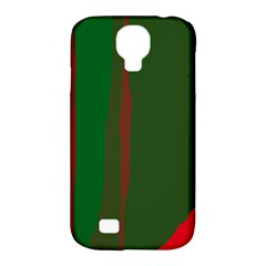 Green and red lines Samsung Galaxy S4 Classic Hardshell Case (PC+Silicone)
