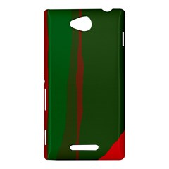 Green and red lines Sony Xperia C (S39H)