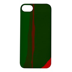 Green and red lines Apple iPhone 5S/ SE Hardshell Case