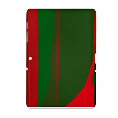 Green and red lines Samsung Galaxy Tab 2 (10.1 ) P5100 Hardshell Case
