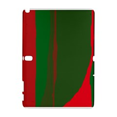 Green and red lines Samsung Galaxy Note 10.1 (P600) Hardshell Case