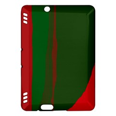 Green and red lines Kindle Fire HDX Hardshell Case