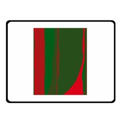 Green and red lines Double Sided Fleece Blanket (Small)