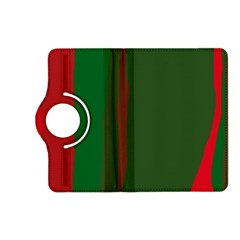 Green and red lines Kindle Fire HD (2013) Flip 360 Case