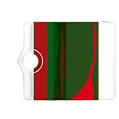 Green and red lines Kindle Fire HDX 8.9  Flip 360 Case