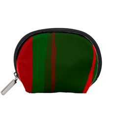 Green And Red Lines Accessory Pouches (small)