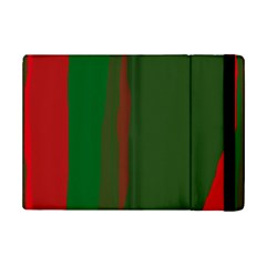Green and red lines iPad Mini 2 Flip Cases