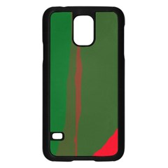 Green and red lines Samsung Galaxy S5 Case (Black)