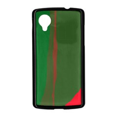 Green and red lines Nexus 5 Case (Black)