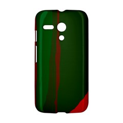 Green and red lines Motorola Moto G