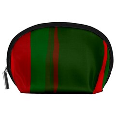 Green and red lines Accessory Pouches (Large)