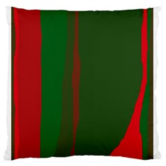 Green and red lines Standard Flano Cushion Case (Two Sides)