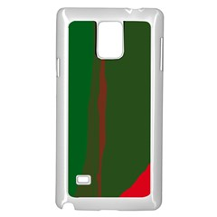 Green and red lines Samsung Galaxy Note 4 Case (White)