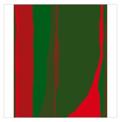 Green and red lines Large Satin Scarf (Square)