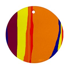 Hot colorful lines Ornament (Round)