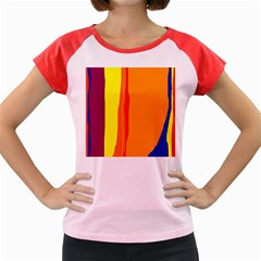Hot colorful lines Women s Cap Sleeve T-Shirt