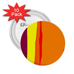 Hot colorful lines 2.25  Buttons (10 pack)
