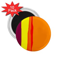 Hot colorful lines 2.25  Magnets (10 pack)