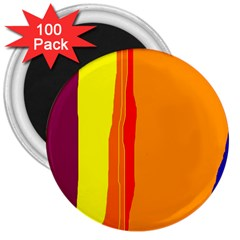 Hot colorful lines 3  Magnets (100 pack)