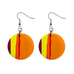 Hot colorful lines Mini Button Earrings