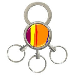 Hot colorful lines 3-Ring Key Chains