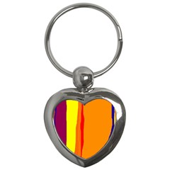 Hot colorful lines Key Chains (Heart)