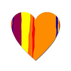 Hot colorful lines Heart Magnet