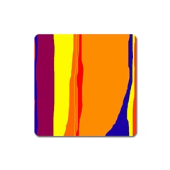 Hot colorful lines Square Magnet