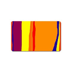 Hot colorful lines Magnet (Name Card)