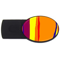 Hot colorful lines USB Flash Drive Oval (2 GB)