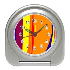 Hot colorful lines Travel Alarm Clocks
