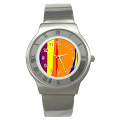 Hot colorful lines Stainless Steel Watch