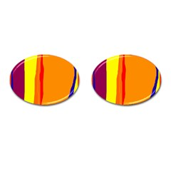 Hot colorful lines Cufflinks (Oval)