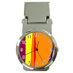 Hot colorful lines Money Clip Watches