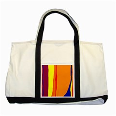 Hot colorful lines Two Tone Tote Bag