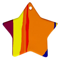 Hot colorful lines Star Ornament (Two Sides)