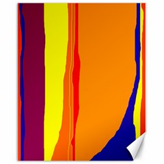 Hot colorful lines Canvas 16  x 20