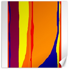 Hot colorful lines Canvas 20  x 20