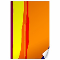 Hot colorful lines Canvas 24  x 36