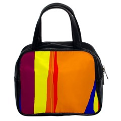 Hot colorful lines Classic Handbags (2 Sides)