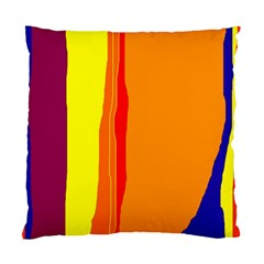 Hot colorful lines Standard Cushion Case (Two Sides)